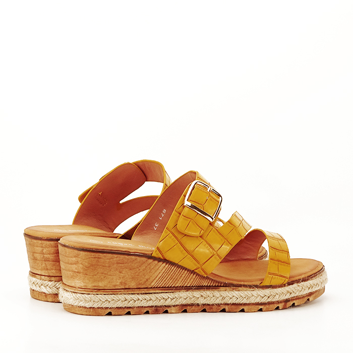 Sandale galbene cu platforma Florida 2