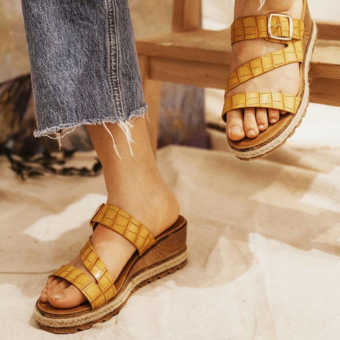 Sandale galbene cu platforma Florida 8