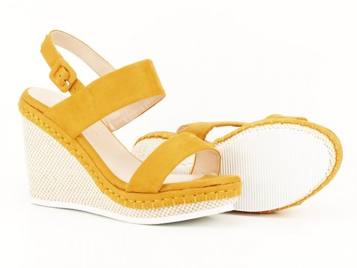 Sandale galbene cu platforma Loredana 5