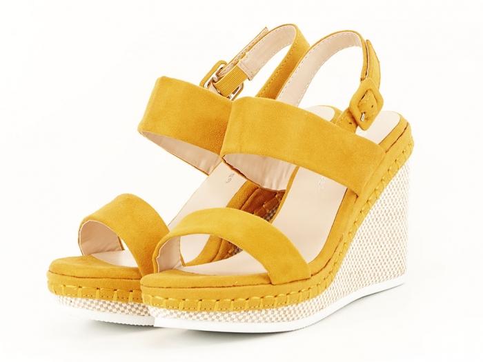 Sandale galbene cu platforma Loredana 4