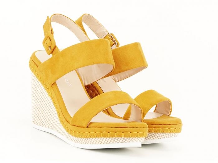 Sandale galbene cu platforma Loredana 1