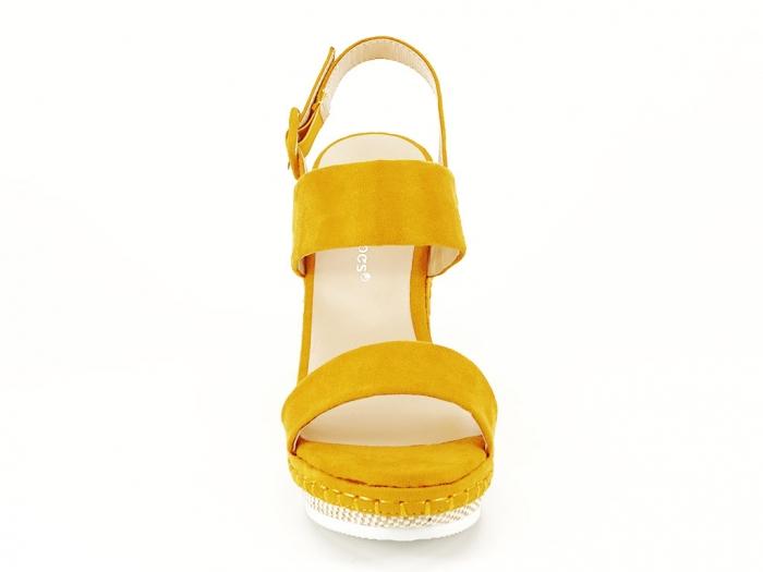 Sandale galbene cu platforma Loredana 2