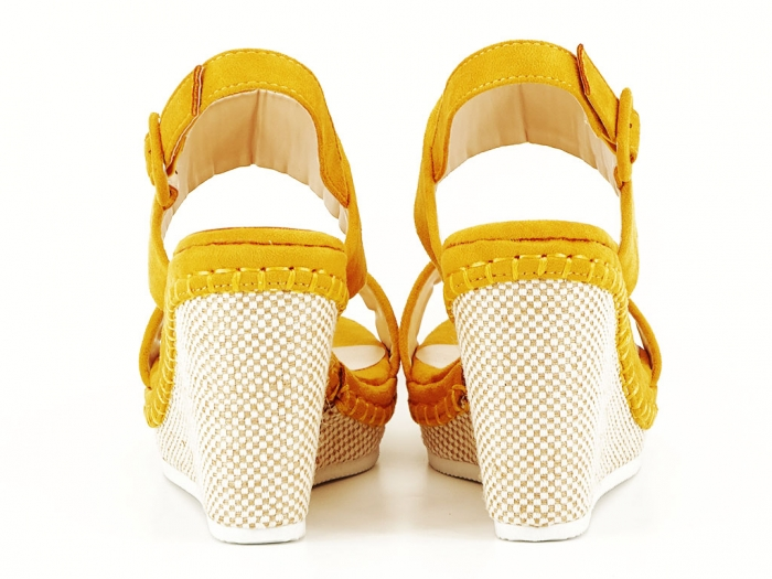 Sandale galbene cu platforma Loredana 3