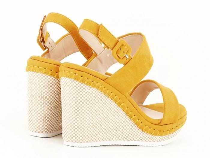 Sandale galbene cu platforma Loredana 6