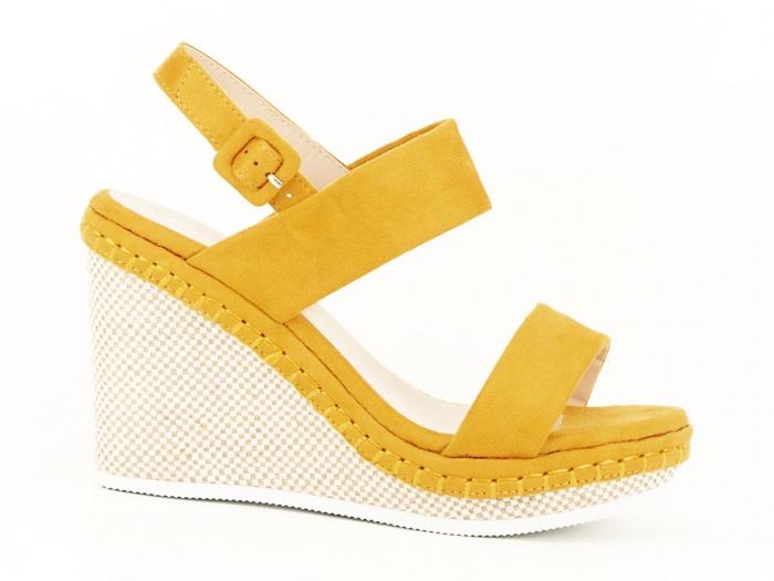 Sandale galbene cu platforma Loredana 0