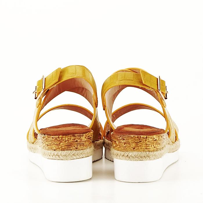 Sandale galbene cu platforma Odessa 4