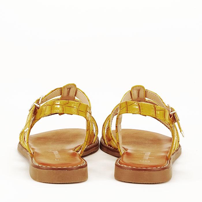 Sandale galbene cu talpa joasa Jeni 4