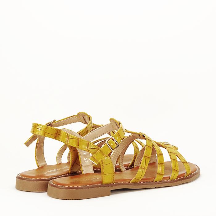 Sandale galbene cu talpa joasa Jeni 3