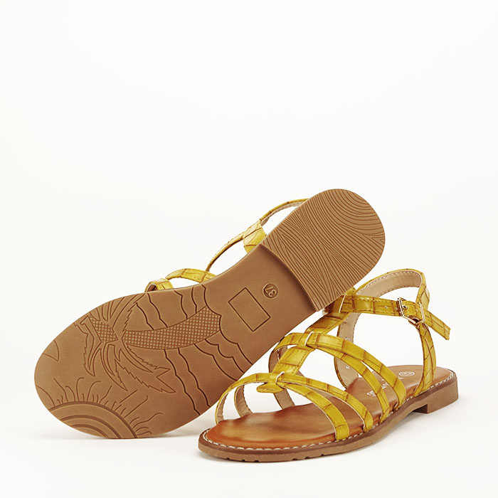 Sandale galbene cu talpa joasa Jeni 5