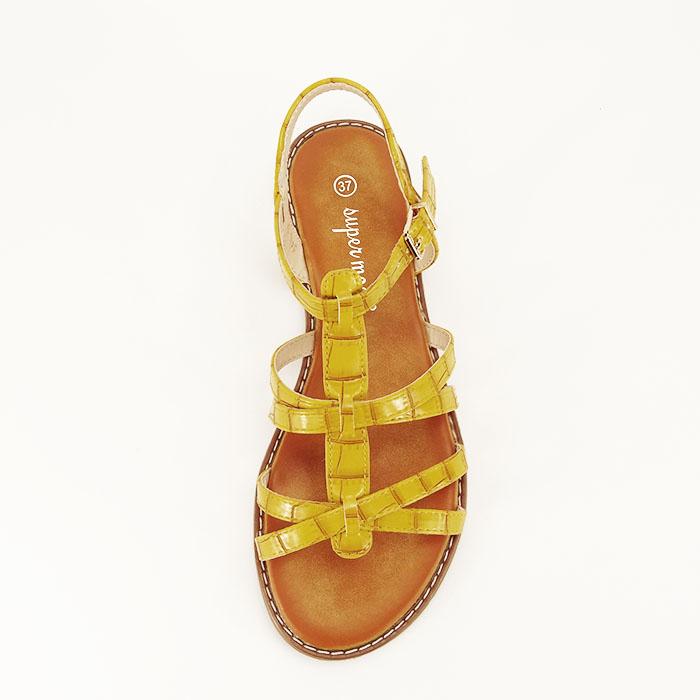 Sandale galbene cu talpa joasa Jeni 2