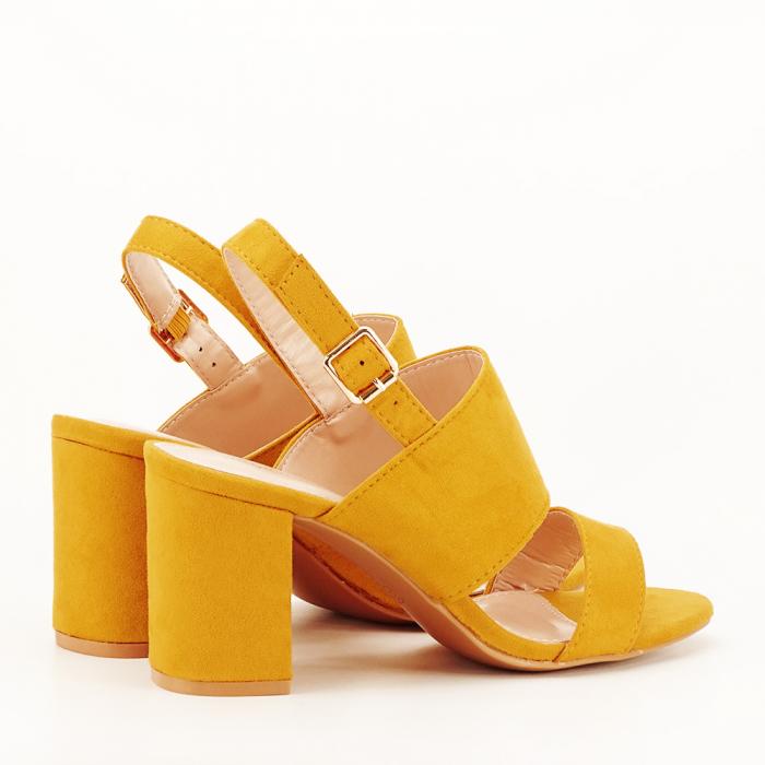 Sandale galbene cu toc comod Paloma [2]