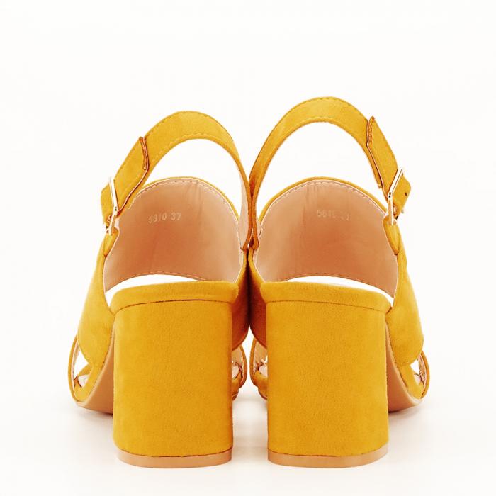 Sandale galbene cu toc comod Paloma [4]