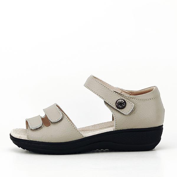 Sandale gri din piele naturala Agata 0