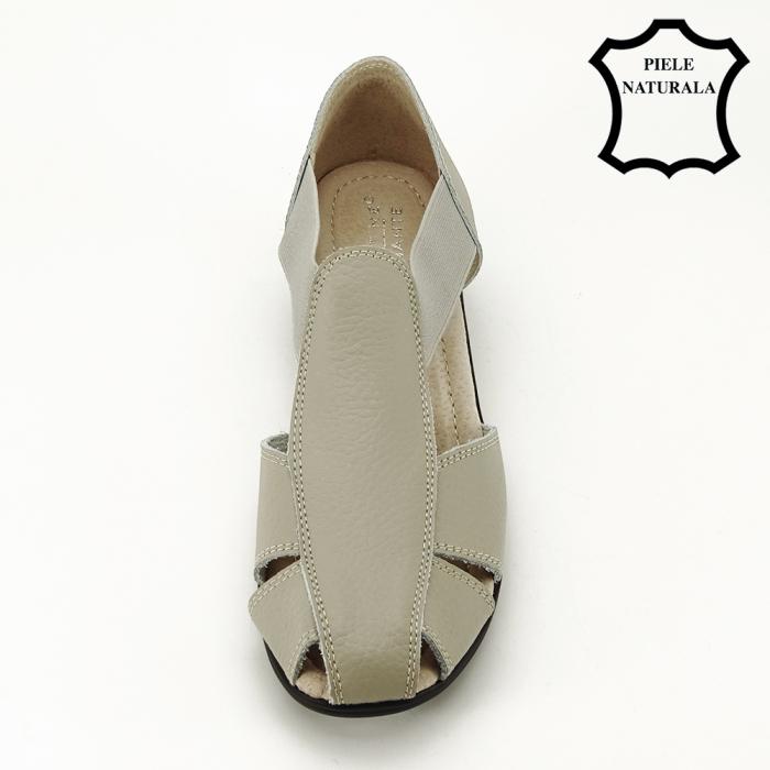Sandale gri din piele naturala Calypso 2