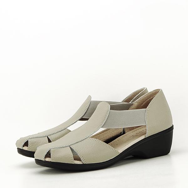 Sandale gri din piele naturala Calypso 0