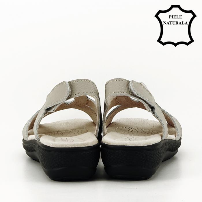 Sandale gri din piele naturala Mabel [4]