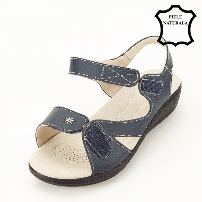 Sandale dama gri din piele naturala Sara 8