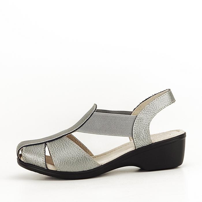 Sandale gri metalizat din piele naturala Codruta 0