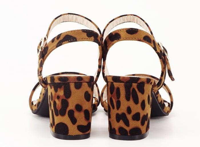 Sandale dama cu imprimeu leopard cu toc mic Daria 5