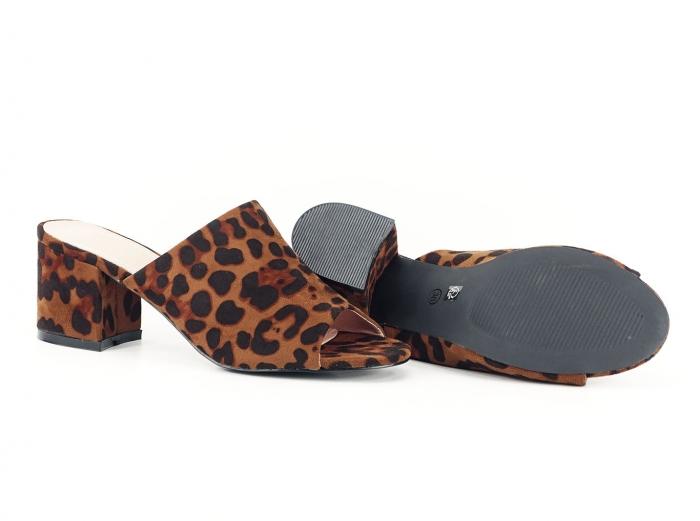Sandale leopard print cu toc gros si mediu Anca 2