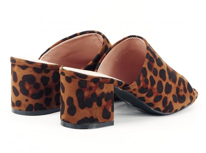 Sandale leopard print cu toc gros si mediu Anca 4