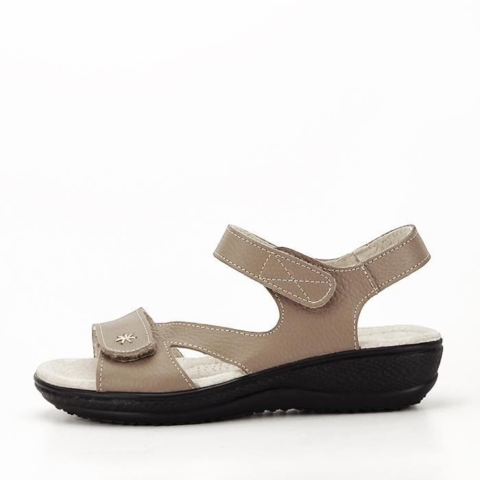 Sandale maro deschis din piele naturala Sara 0