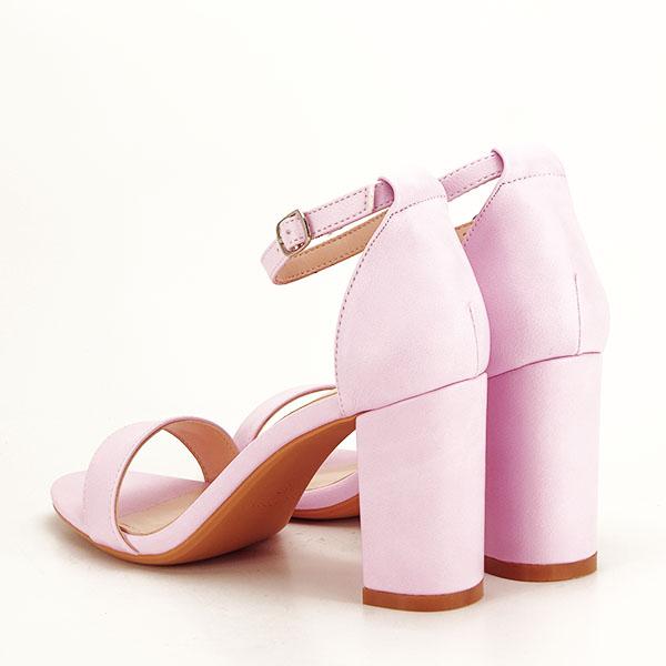 Sandale mov deschis cu toc gros Ingrid [3]