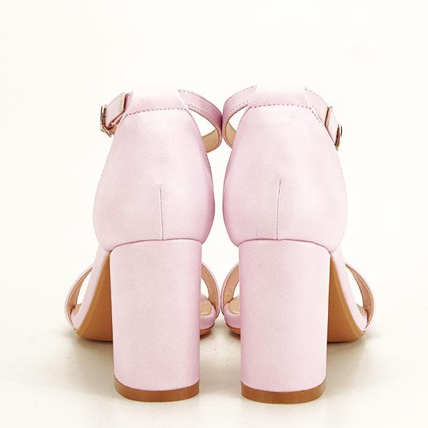 Sandale mov deschis cu toc gros Ingrid [5]