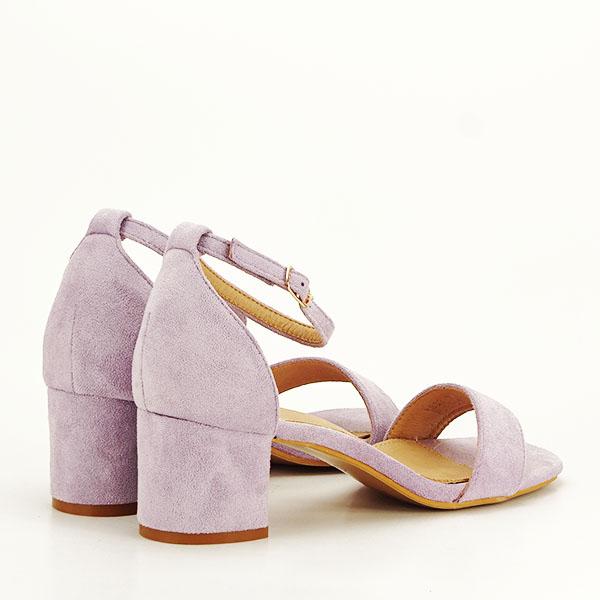 Sandale mov din velur Lorena [4]