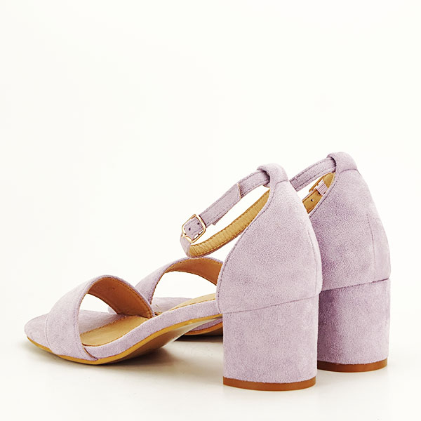 Sandale mov din velur Lorena [3]