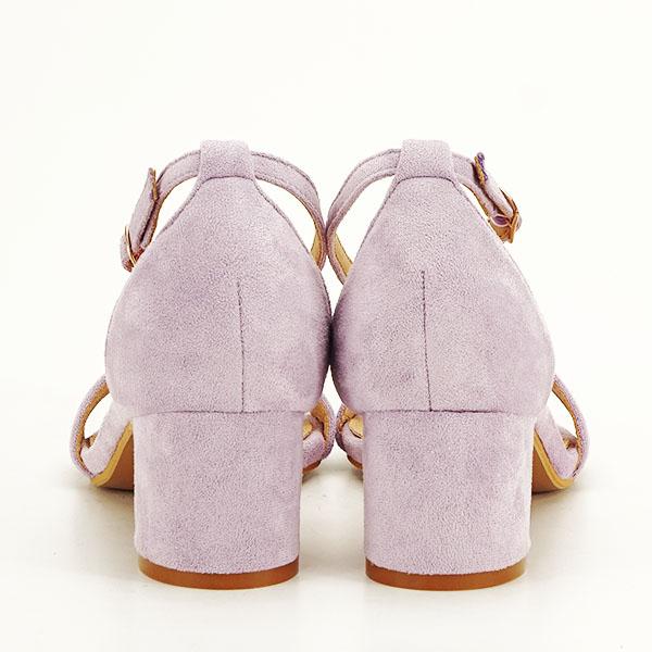 Sandale mov din velur Lorena [5]