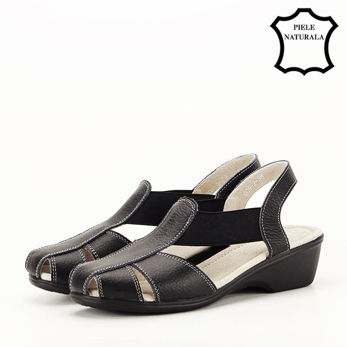 Sandale negre din piele naturala Codruta [1]