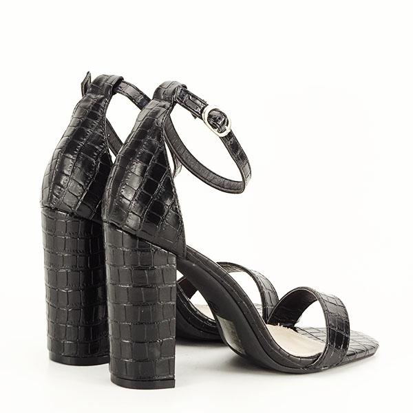 Sandale negre cu imprimeu Frida [5]