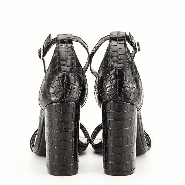 Sandale negre cu imprimeu Frida [4]