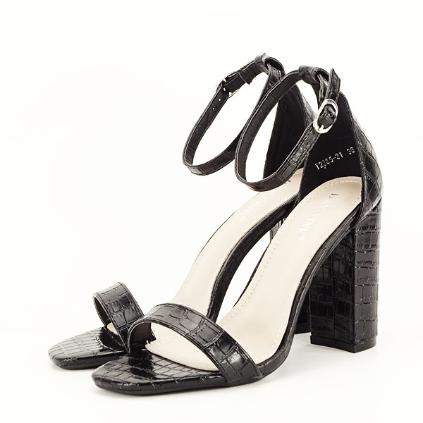 Sandale negre cu imprimeu Frida [1]