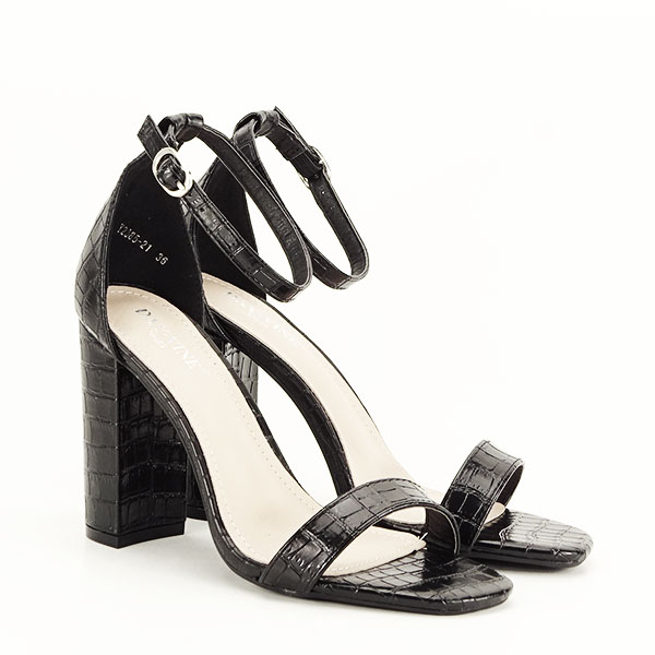 Sandale negre cu imprimeu Frida [2]