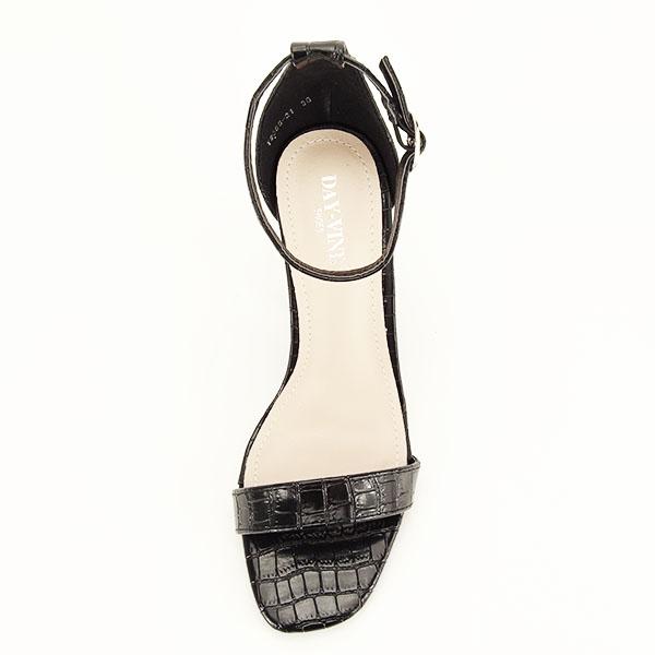 Sandale negre cu imprimeu Frida [6]