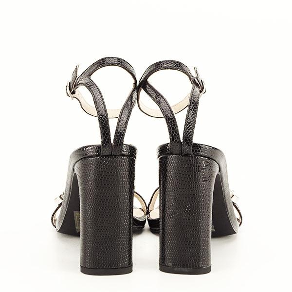 Sandale negre cu imprimeu Lola [5]