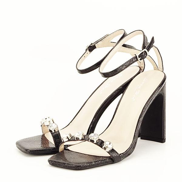 Sandale negre cu imprimeu Lola [0]