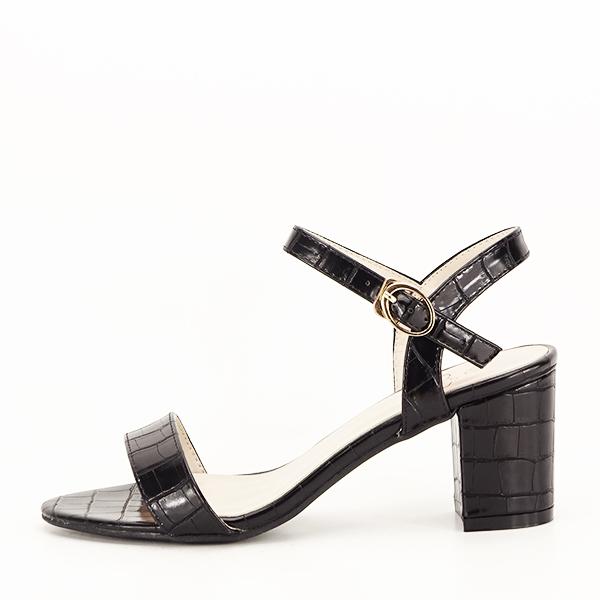 Sandale negre cu imprimeu Violeta [0]