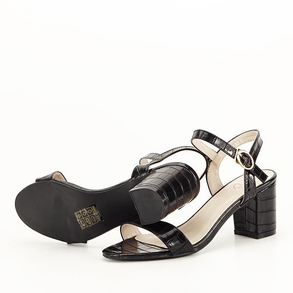 Sandale negre cu imprimeu Violeta [7]