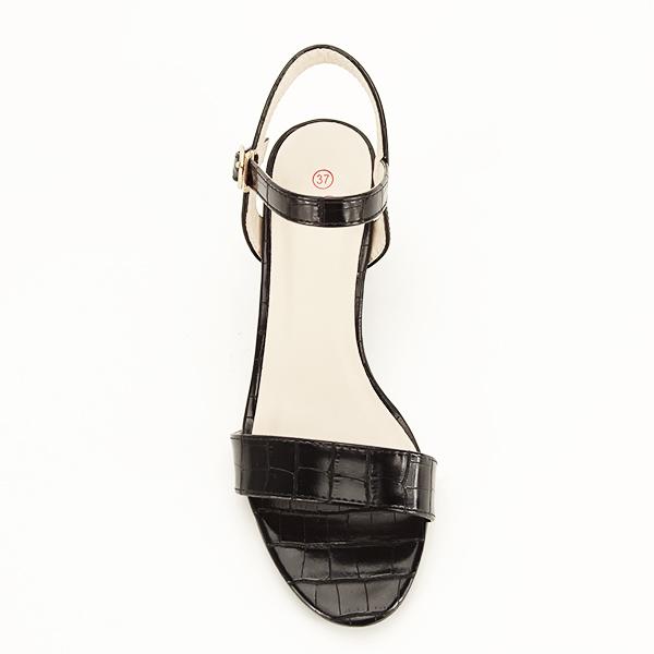 Sandale negre cu imprimeu Violeta [1]