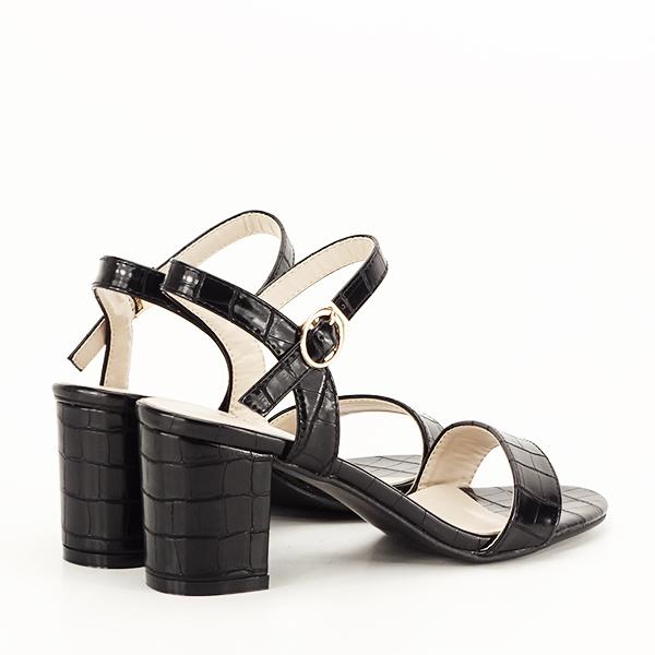 Sandale negre cu imprimeu Violeta [5]