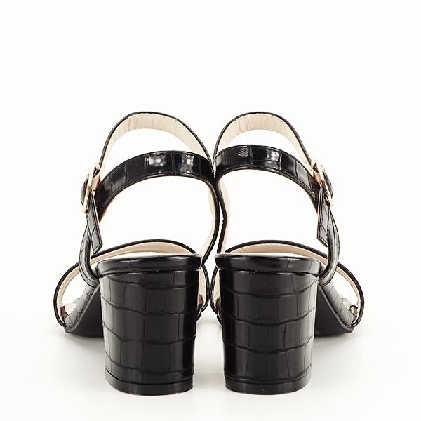 Sandale negre cu imprimeu Violeta [6]