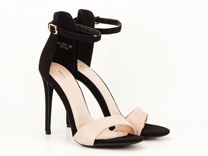 Sandale elegante negre cu nude Simina 2