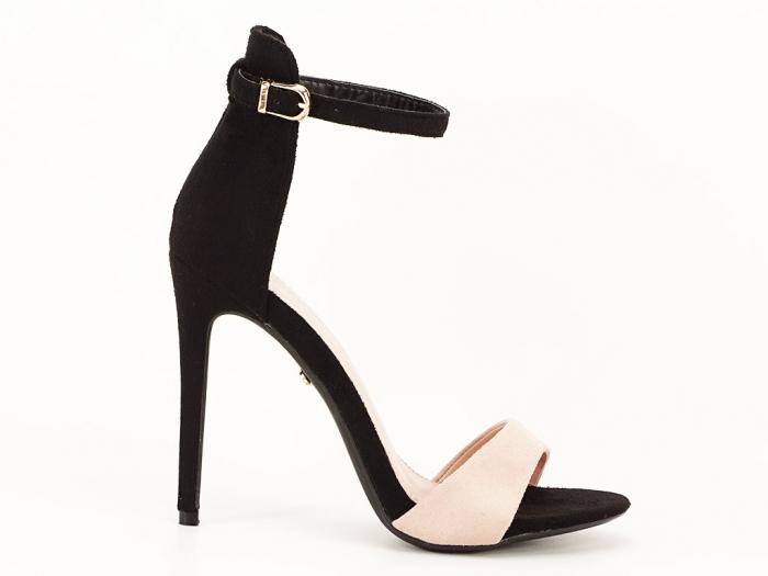 Sandale elegante negre cu nude Simina 0