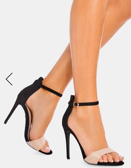 Sandale elegante negre cu nude Simina 7