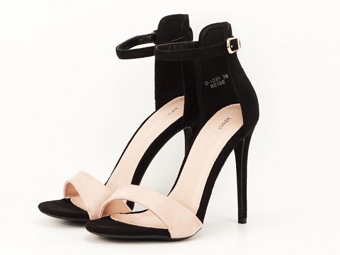 Sandale elegante negre cu nude Simina 5