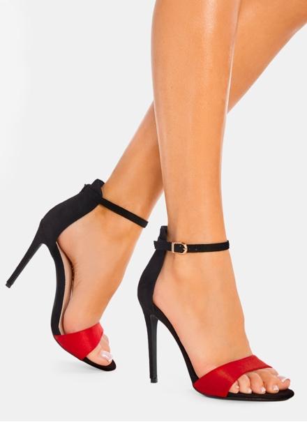 Sandale dama elegante negru cu rosu Simina 8