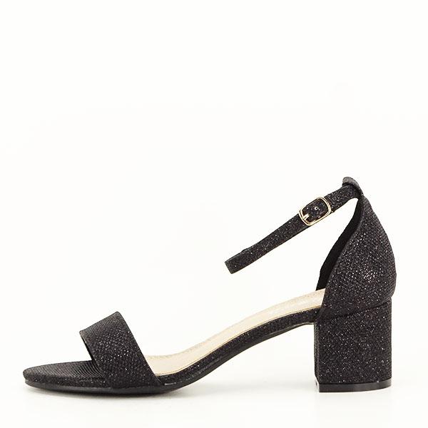 Sandale negre cu sclipici Miria [0]
